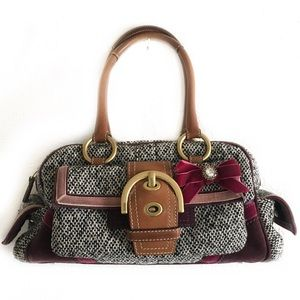 Coach vintage tweed bag limited ed black